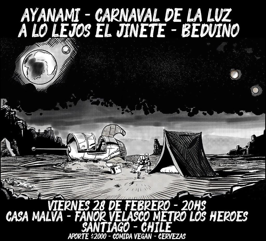 El despegue de A lo lejos el Jinete debuta en Chile: 28 y 29 Febrero